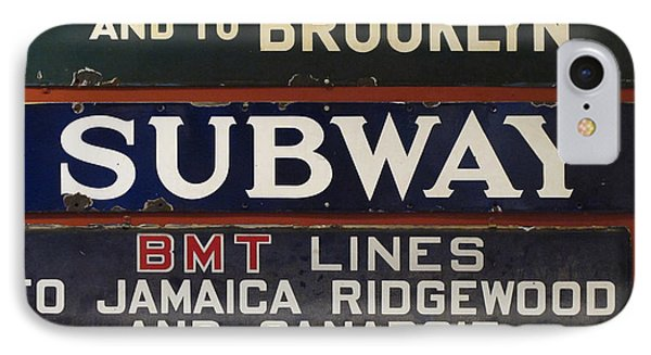 Old Subway Signs Phone Case by Dave Mills