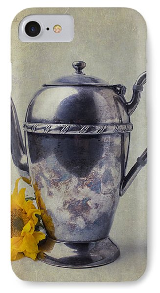 Old Teapot With Sunflower IPhone 7 Case by Garry Gay