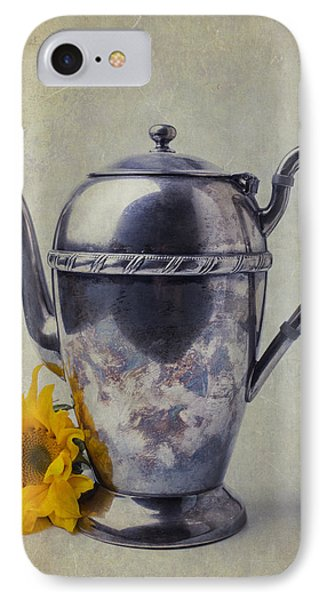 Old Teapot With Sunflower IPhone Case by Garry Gay