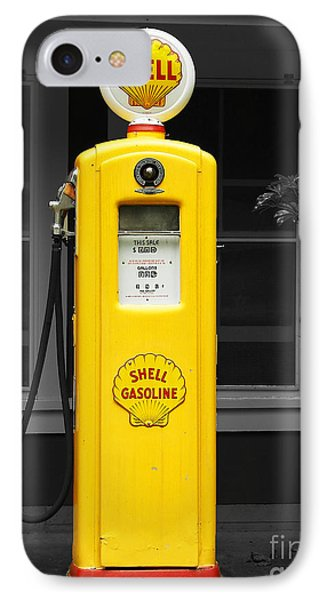 Old Time Gas Pump IPhone Case by David Lawson