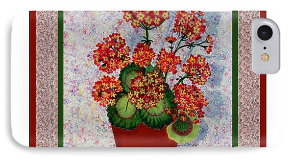 Old Time Geraniums Phone Case by Barbara Griffin