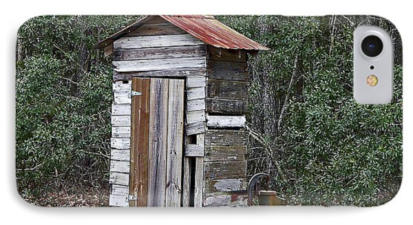 Old Time Outhouse And Pitcher Pump Phone Case by Al Powell Photography USA