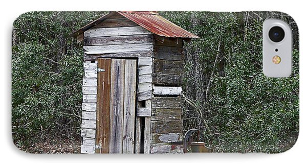 Old Time Outhouse And Pitcher Pump IPhone Case by Al Powell Photography USA