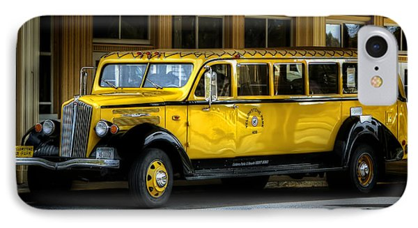 Old Time Yellowstone Bus II IPhone Case by David Lawson