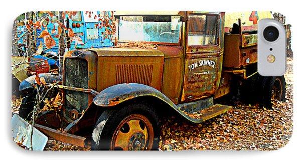 IPhone Case featuring the digital art Old Tom Skinner's Truck by K Scott Teeters