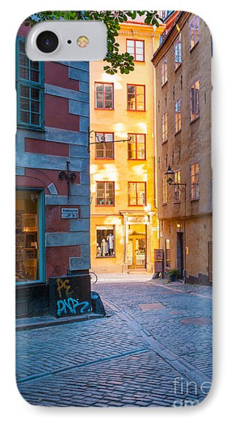 Old Town Alley IPhone Case by Inge Johnsson