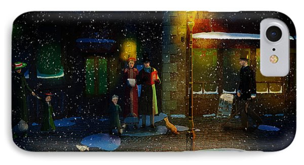 Old Town Christmas Eve IPhone Case by Ken Morris