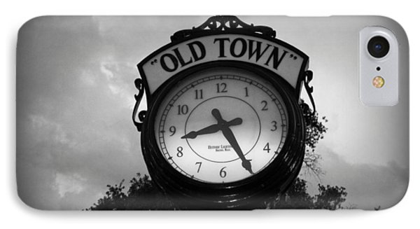 Old Town Clock IPhone Case by Laurie Perry