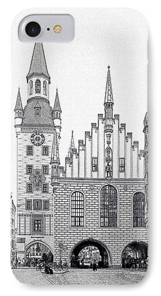 Old Town Hall - Munich - Germany Phone Case by Christine Till