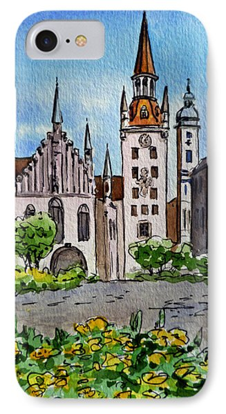 Old Town Hall Munich Germany IPhone Case by Irina Sztukowski