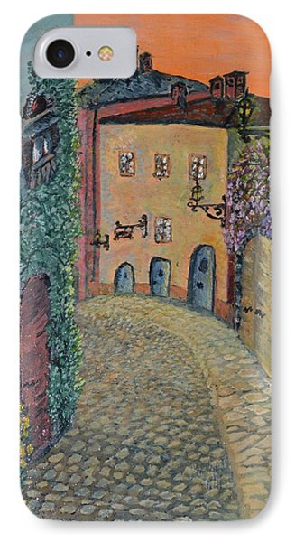 IPhone Case featuring the painting Old Town In Piedmont by Felicia Tica