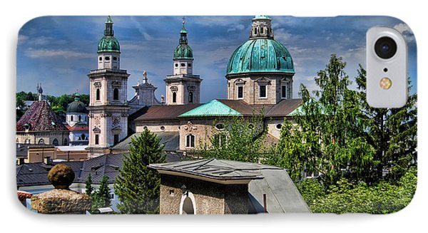 Old Town Salzburg Austria In Hdr Phone Case by Sabine Jacobs