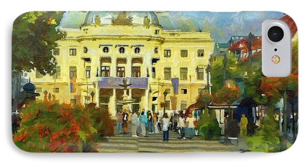 Old Town Square Phone Case by Jeffrey Kolker