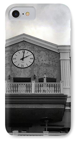 Old Town Temecula - The Clock IPhone Case by Glenn McCarthy
