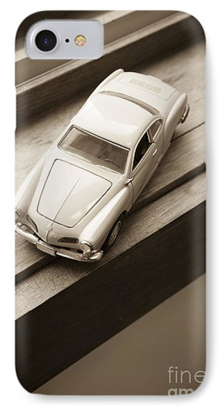 Old Toy Car On The Window Sill IPhone Case