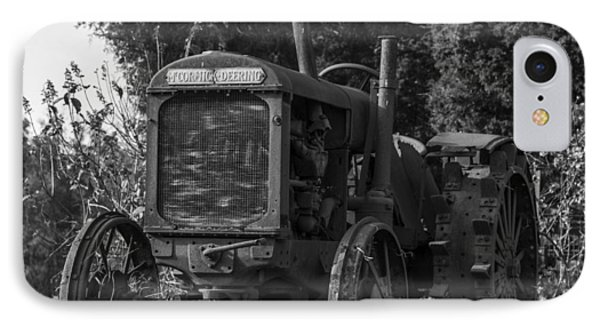 Old Tractor IPhone Case by Amber Kresge
