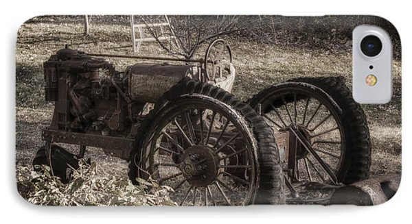 IPhone Case featuring the photograph Old Tractor by Lynn Geoffroy