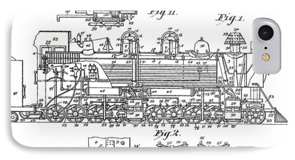 Old Train Patent IPhone Case by Dan Sproul