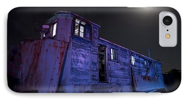 IPhone Case featuring the photograph Old Train Trail Snow Plow by Keith Kapple