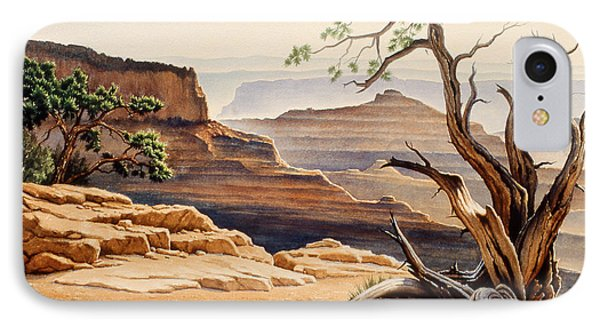 Old Tree At The Canyon IPhone Case by Paul Krapf