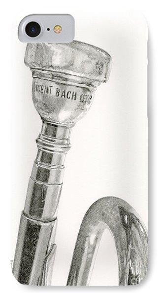 Trumpet iPhone 7 Case - Old Trumpet by Sarah Batalka