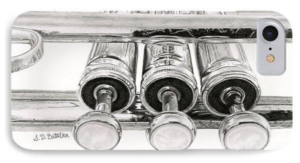 Trumpet iPhone 7 Case - Old Trumpet Valves by Sarah Batalka