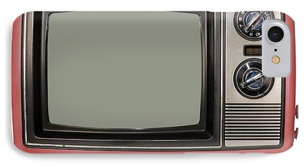 Vintage Tv Set IPhone Case by Les Palenik