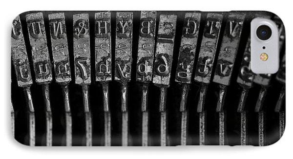 Old Typewriter Keys IPhone Case by Edward Fielding