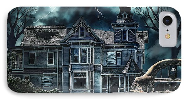 Old Victorian House Phone Case by Mo T