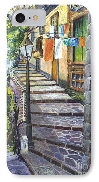 Old Village Stairs - In Tuscany Italy IPhone Case by Carol Wisniewski