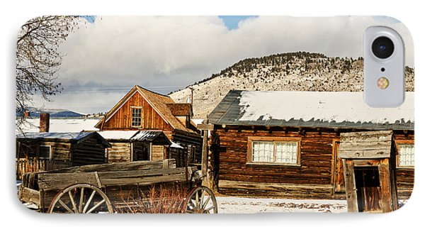 IPhone Case featuring the photograph Old Wagon And Ghost Town Buildings by Sue Smith