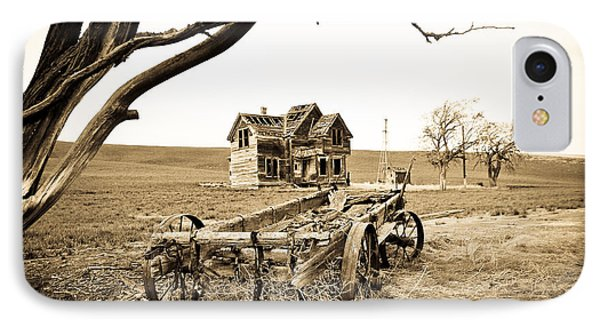Old Wagon And Homestead Phone Case by Athena Mckinzie