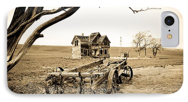 Old Wagon And Homestead II Phone Case by Athena Mckinzie