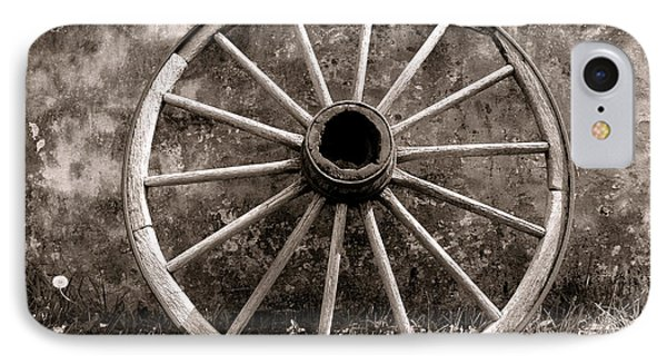 Old Wagon Wheel Phone Case by Olivier Le Queinec