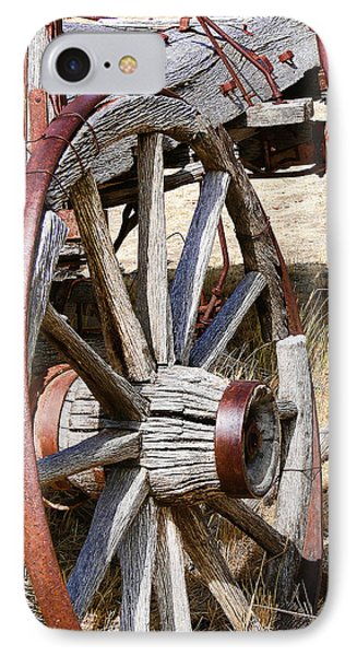 Old Wagon Wheels From Montana Phone Case by Jennie Marie Schell