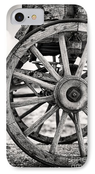 Old Wagon Wheels Phone Case by Jane Rix