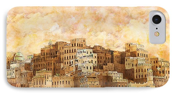 Old Walled City Of Shibam IPhone Case by Catf