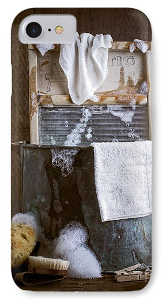 Old Wash Tub IPhone Case by Edward Fielding