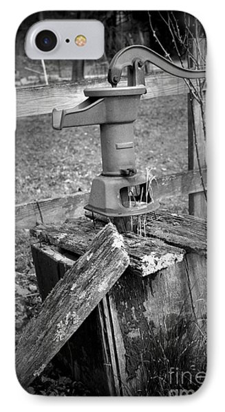 Old Water Pump Bw IPhone Case
