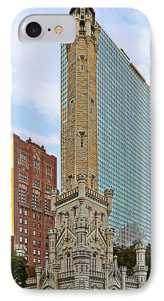 Old Water Tower Chicago IPhone Case by Christine Till