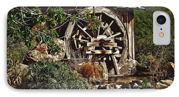 IPhone Case featuring the photograph Old Water Wheel by Elaine Malott