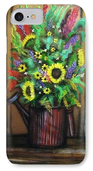 Old Watering Can Phone Case by Kendra Sorum