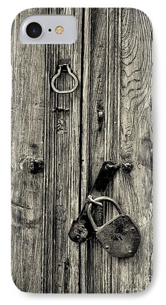 Old Weathered Door IPhone Case by Nicola Fiscarelli