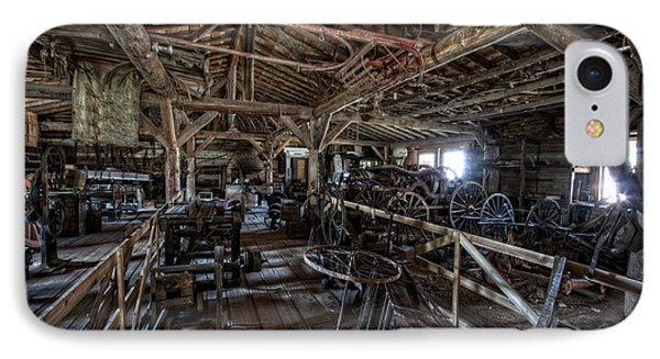 Old West Wagon Storage And Shop Phone Case by Daniel Hagerman