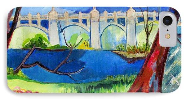 Old Western Gateway Bridge Schenectady To Scotia IPhone Case by Betty Pieper