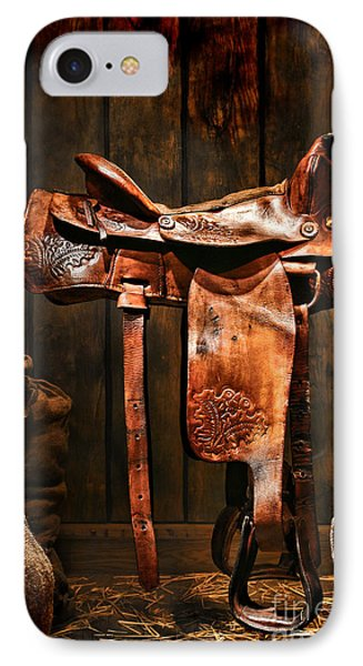 Old Western Saddle Phone Case by Olivier Le Queinec