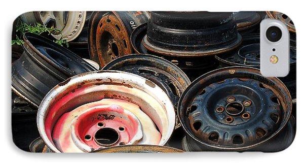 Old Wheels IPhone Case by Kae Cheatham