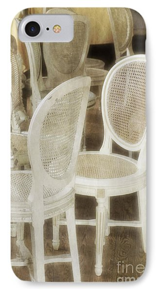 Old White Chairs IPhone Case by Carlos Caetano