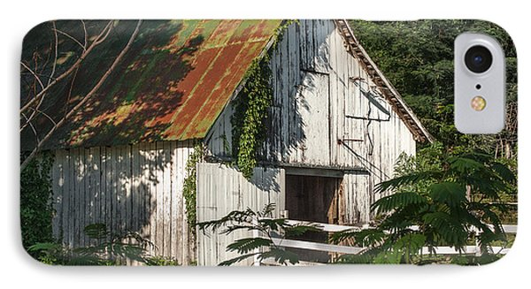 Old Whitewashed Barn In Tennessee IPhone Case by Debbie Karnes