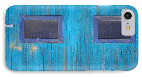 Old Wood Blue Garage Door Phone Case by James BO  Insogna